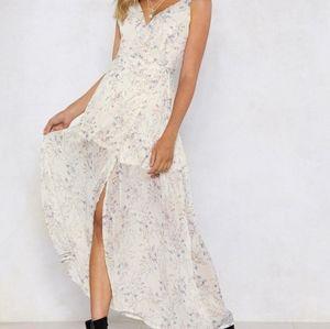 Split Wrap Floral Maxi Dress -6